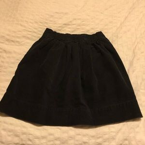 J Crew Girls Corduroy Navy Blue Skirt 8 yrs